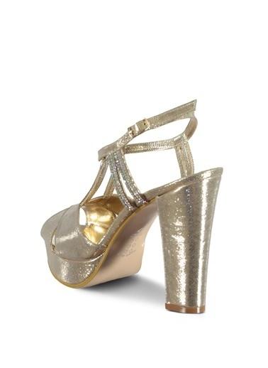 Marjin Topuklu Ayakkabı Altın